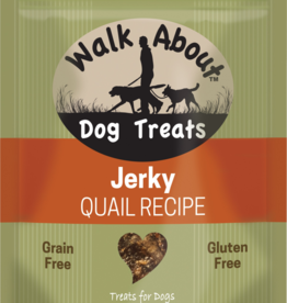 WALK ABOUT QUAIL DOG JERKY 5.5OZ