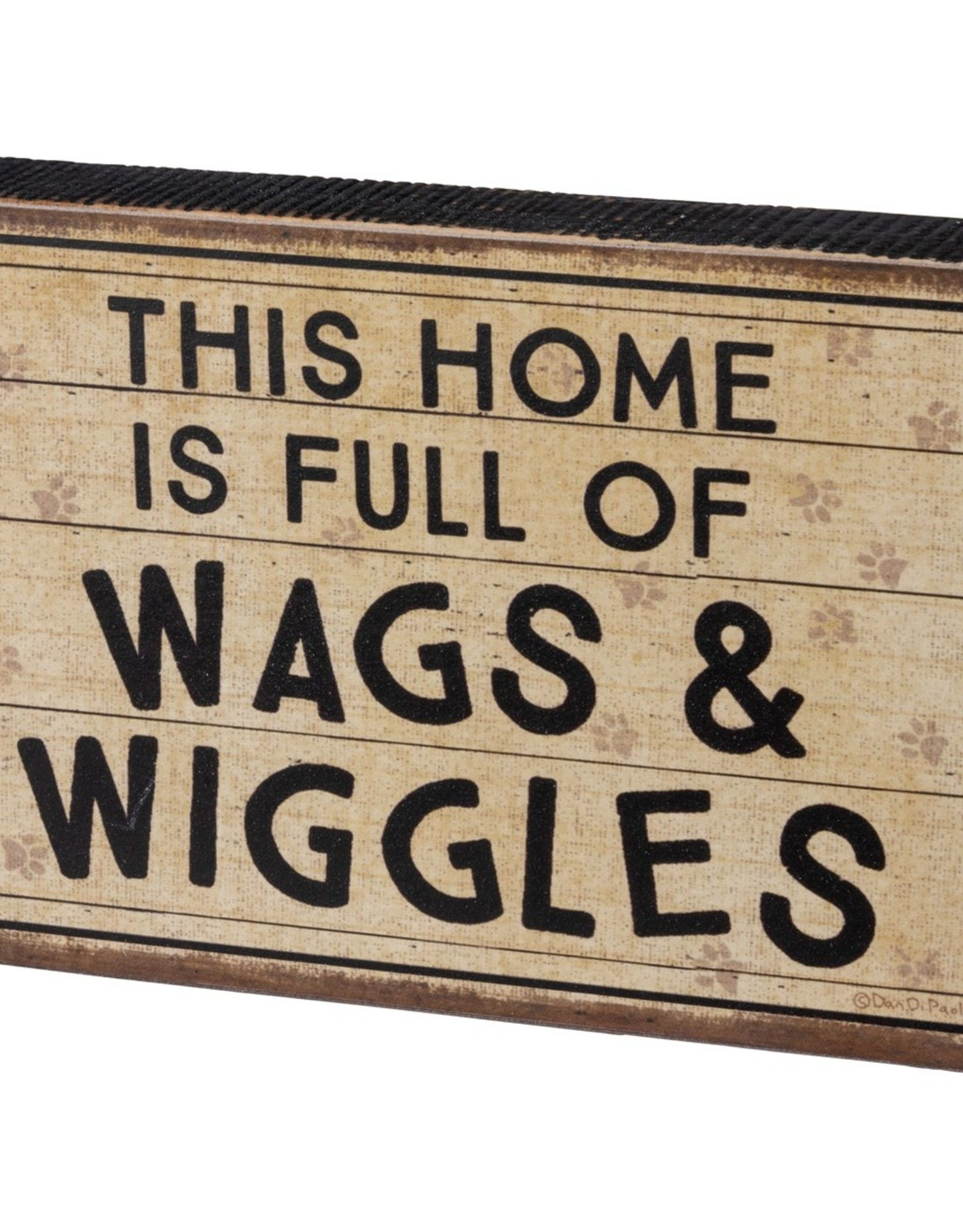 PRIMITIVES BY KATHY BLOCK SIGN - WAGS AND WIGGLES