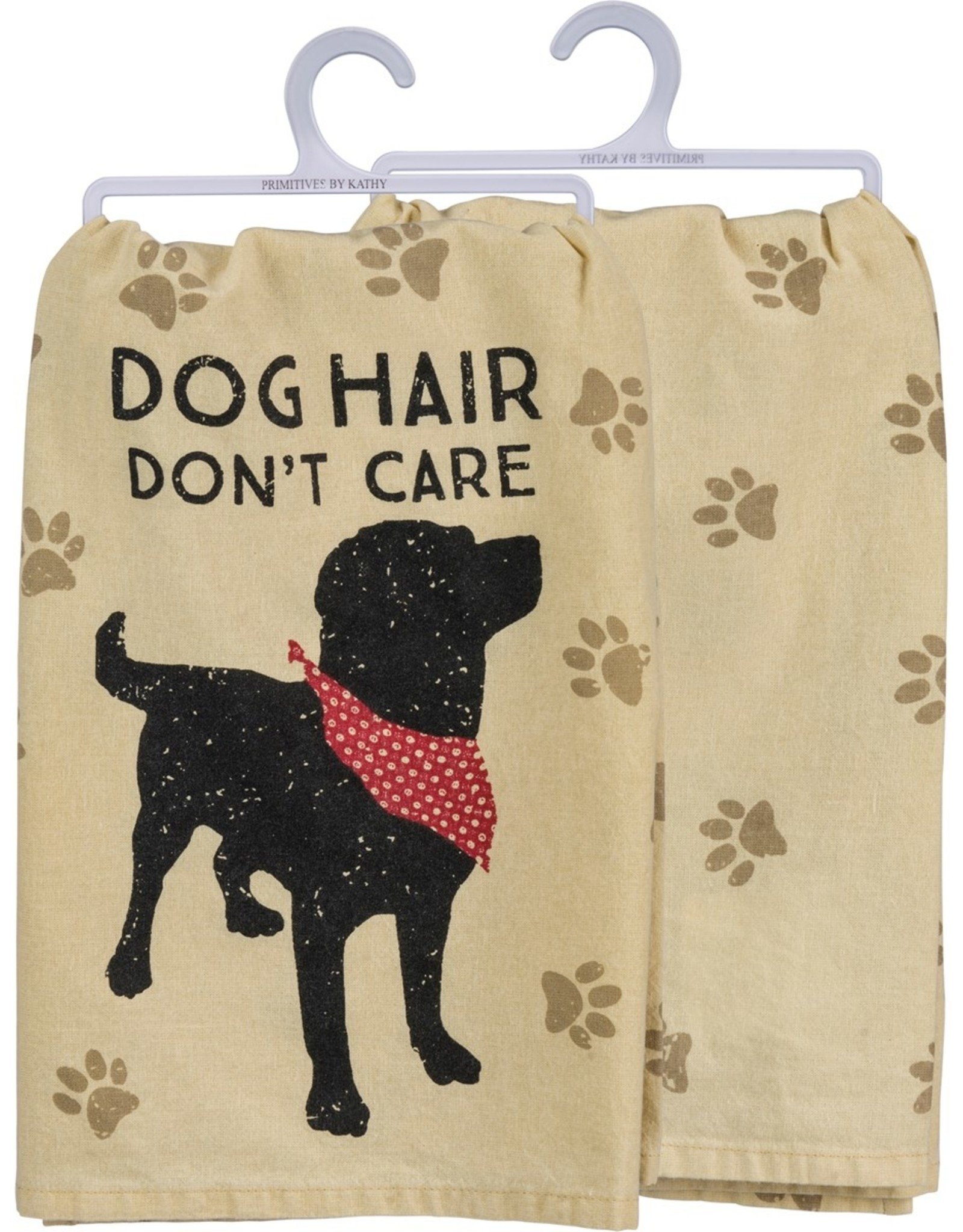 PRIMITIVES BY KATHY DISH TOWEL - DOG HAIR