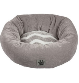 "PRECISION PET PRODUCTS PRECISION PET DONUT 17"" GRAY & WHITE"