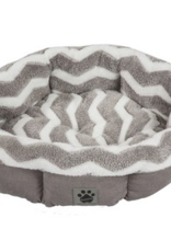 PRECISION PET PRODUCTS PRECISION PET ROUND SHEARLING CUDDLER GREY & PINK 21""