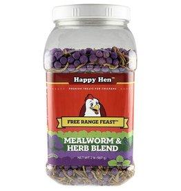 DURVET - HAPPY HEN    D HAPPY HEN FREE RANGE FEAST MEALWORM & HERBS 2LBS