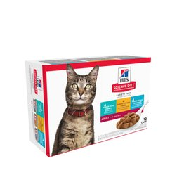 SCIENCE DIET HILL'S SCIENCE DIET FELINE ADULT TENDER DINNERS VARIETY PACK 5.5OZ
