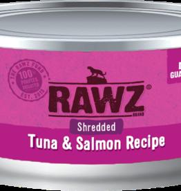 RAWZ RAWZ CAT SHREDDED TUNA & SALMON 3OZ CASE OF 8