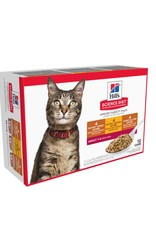 SCIENCE DIET HILL'S SCIENCE DIET FELINE ADULT SAVORY ENTREE VARIETY PACK 5.5OZ CANS
