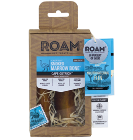 ROAM SMOKED OSTRICH MARROW BONE SMALL 2PK