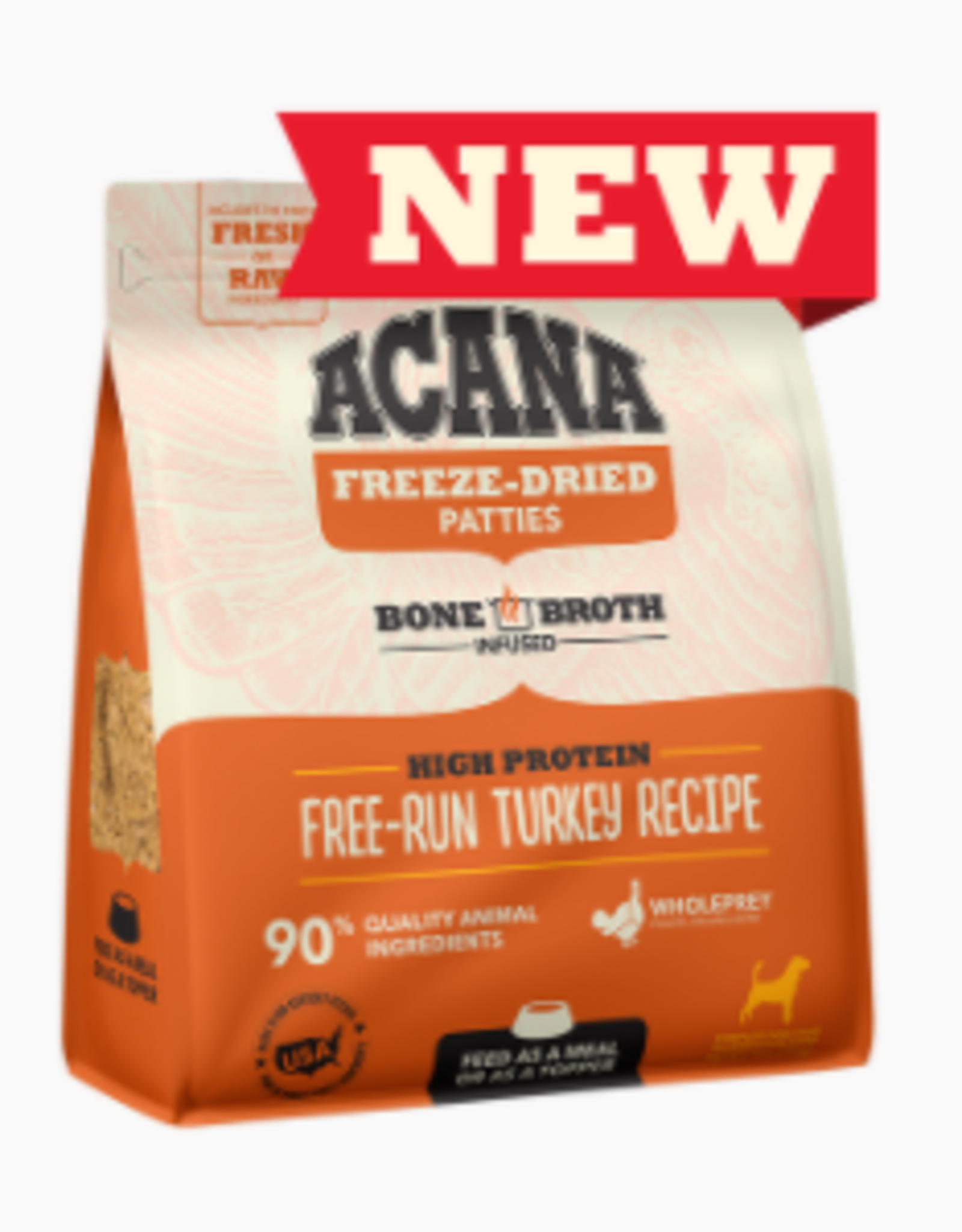 CHAMPION PET FOOD ACANA FREEZE DRIED TURKEY PATTIES 14OZ