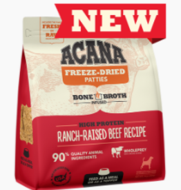 CHAMPION PET FOOD ACANA FREEZE DRIED BEEF PATTIES 14OZ