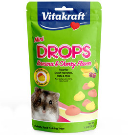 VITAKRAFT SUN SEED, INC. VITAKRAFT MINI  BANANA & CHERRY DROPS