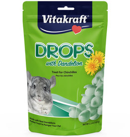 VITAKRAFT SUN SEED, INC. VITAKRAFT CHINCHILLA DANDELION DROPS 5.3OZ