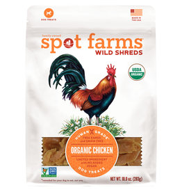 SPOT FARMS DOG GRAIN FREE WILD SHREDS CHICKEN 10OZ
