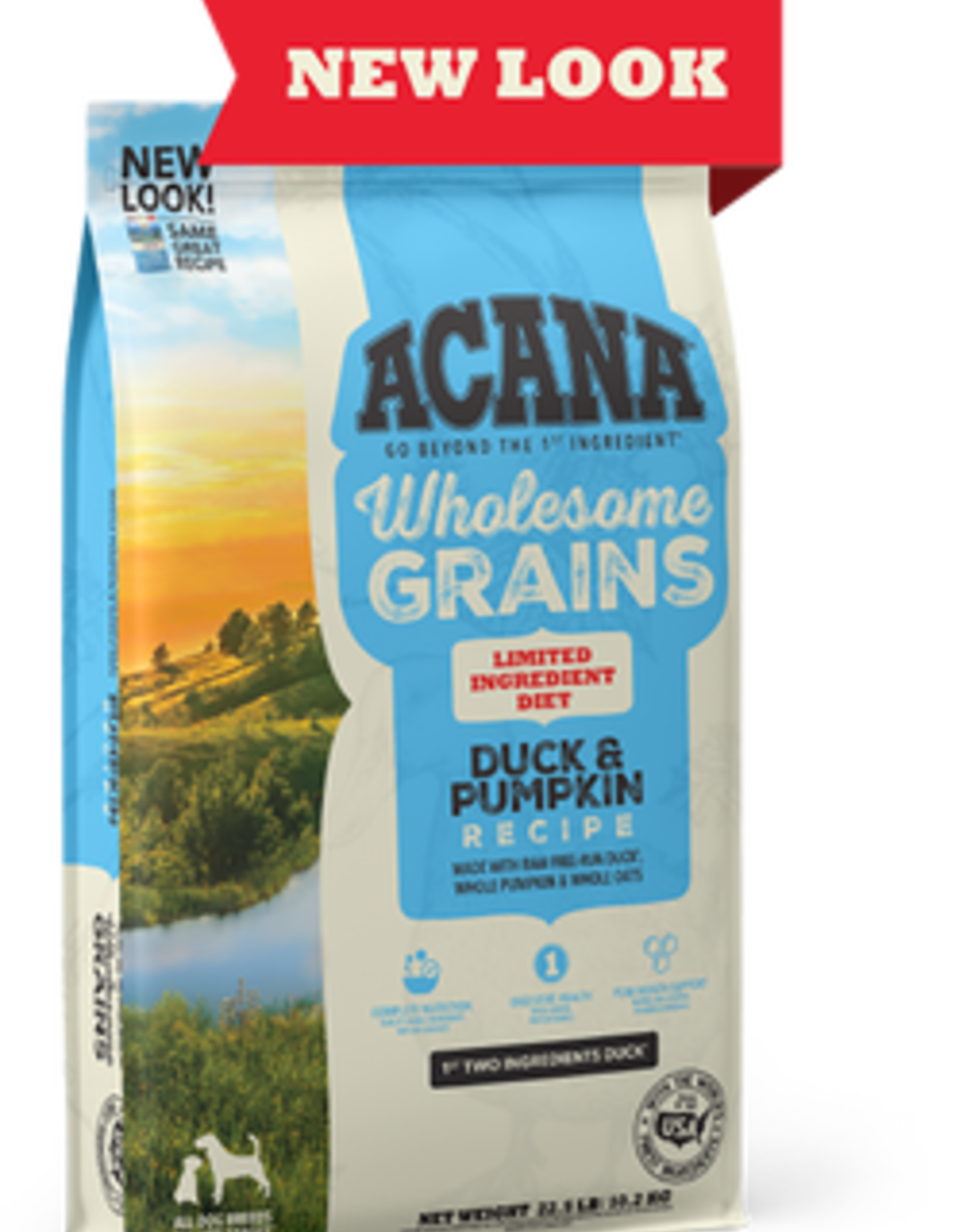 CHAMPION PET FOOD ACANA SINGLES DUCK & PUMPKIN WHOLESOME GRAINS 22.5LBS