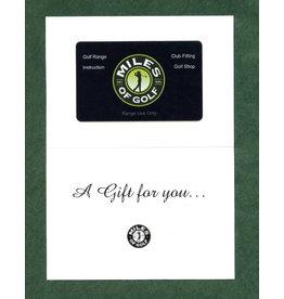 $560 RANGE CARD  FOR $400