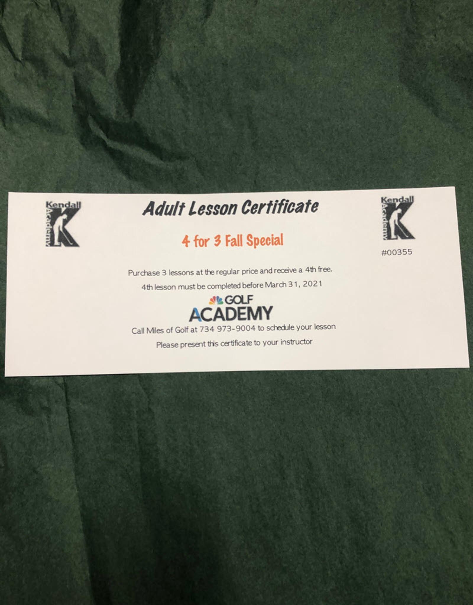 KA - SERIES 4/3 W/ KENDALL ADULT