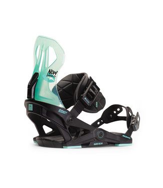 NOW NOW BRIGADA SNOWBOARD BINDING BLACK / TURQ WOMENS 2020