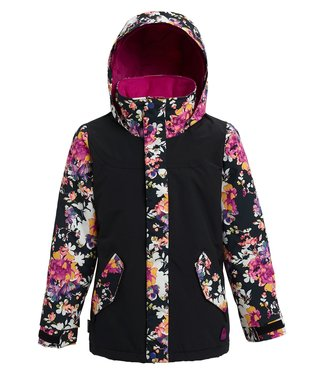 BURTON BURTON GIRLS ELODIE SNOW JACKET TRUE BLACK / SECRET GARDEN 2020