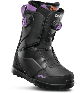THIRTY-TWO THIRTYTWO WMNS LASHED DOUBLE BOA SNOWBOARD BOOT BLACK / PURPLE 2020