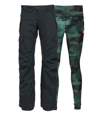 686 686 WOMENS SMARTY 3-IN-1 CARGO SNOW PANT BLACK 2020