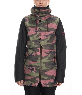 686 686 WOMENS CASCADE SHELL SNOW JACKET BERRY CAMO 2020