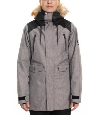686 686 WOMENS CEREMONY INSULATED SNOW JACKET GREY DIAMOND 2020
