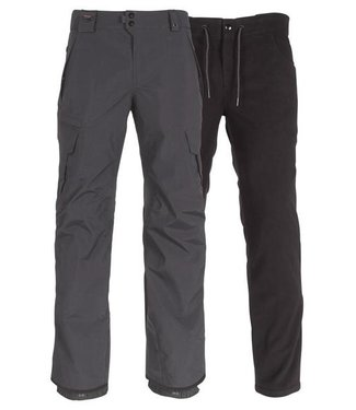 686 686 MENS SMARTY 3-IN-1 CARGO SNOW PANT CHARCOAL 2020