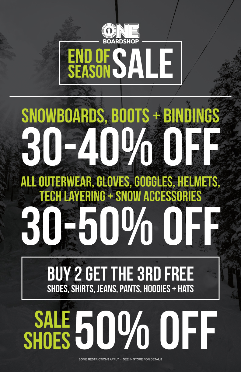 End Of Season Sale & Spring Break Deals