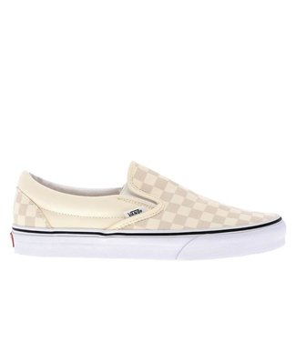 VANS VANS MENS CHECKERBOARD CLASSIC SLIP-ON SHOE CLASSIC WHITE / TRUE WHITE SP20