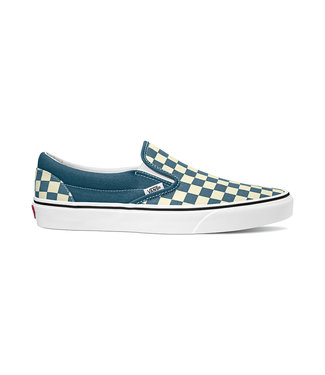 VANS VANS MENS CLASSIC SLIP-ON SHOE (CHECKERBOARD) BLUE MIRAGE  / TRUE WHITE SP20