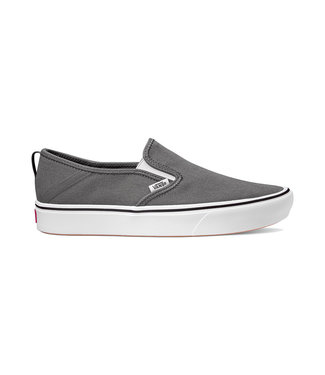VANS VANS MENS COMFYCUSH SLIP-ON SF SHOE PEWTER / TRUE WHITE SP20