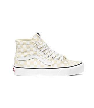 VANS VANS WOMENS SK8-HI TAPERED SHOE (CHECKERBOARD) WHITE / TRUE WHITE SP20