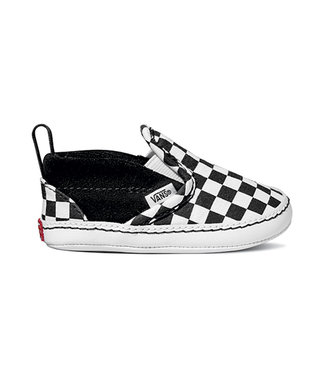 VANS VANS INFANT BOYS SLIP-ON V CRIB SHOE (CHECKER) BLACK / WHTIE SP20