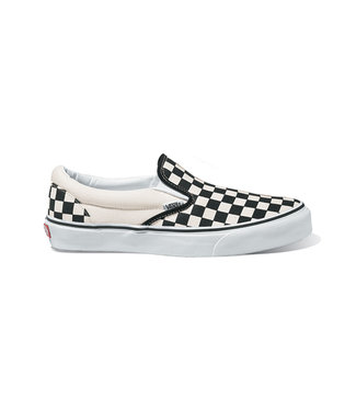 VANS VANS BOYS CLASSIC SLIP-ON (CHECKERBOARD) BLACK / WHITE SHOE SP20