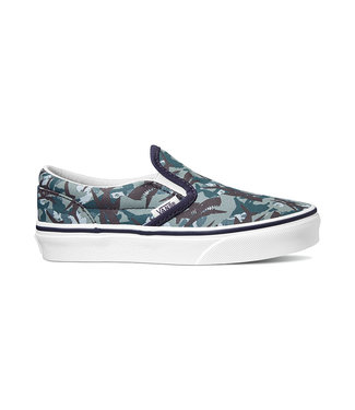 VANS VANS LITTLE BOYS CLASSIC SLIP-ON SHOE (ANIMAL CAMO) PARISIAN NIGHT / TRUE WHITE SP20