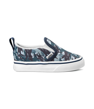 VANS VANS TODDLER BOYS SLIP-ON V SHOE (ANIMAL CAMO) PARISIAN NIGHT / TRUE WHITE SP20