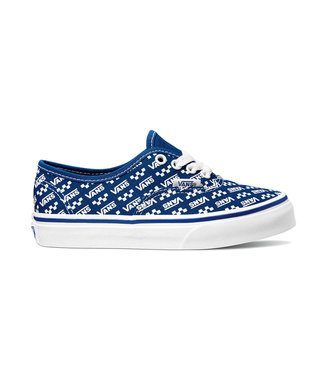 VANS VANS LITTLE BOYS AUTHENTIC SHOE (LOGO REPEAT) TRUE BLUE / TRUE WHITE SP20