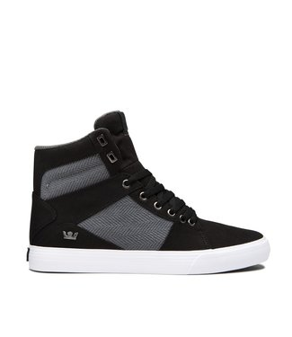SUPRA SUPRA MENS ALUMINUM SHOE BLACK / DARK GREY / WHITE SP20