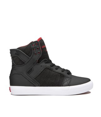 SUPRA SUPRA MENS SKYTOP SHOE BLACK / RED / WHITE SP20