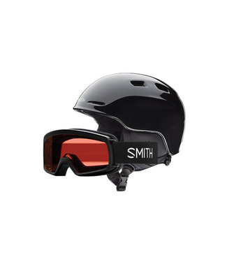 SMITH SMITH BOYS ZOOM JR AND RASCAL HELMET + GOGGLE COMBO BLACK 2020