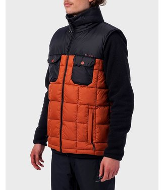 RIP CURL RIP CURL MENS ANTI VEST PUFFER MID LAYER TOP ARABIAN SPICE 2020