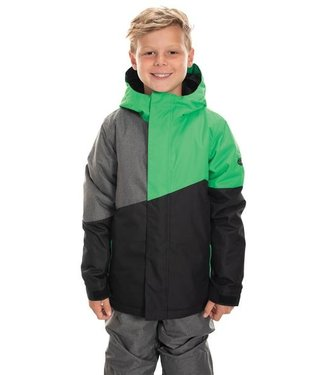686 686 BOYS CROSS INSULATED SNOW JACKET HEX GREEN 2020