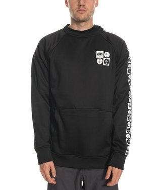 686 686 MENS KNOCKOUT BONDED CREW SWEATER BLACK FOREST 2020