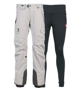 686 686 WOMENS SMARTY 3-IN-1 CARGO SNOW PANT LIGHT GREY 2020
