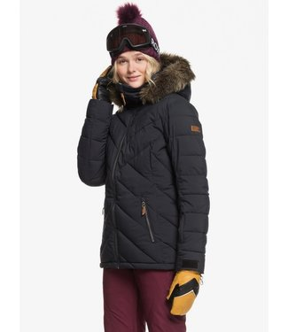 ROXY ROXY WOMENS QUINN SNOW JACKET TRUE BLACK 2020