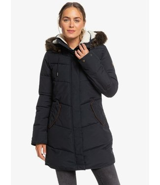 ROXY ROXY WOMENS ELLIE LONGLINE SNOW JACKET TRUE BLACK 2020