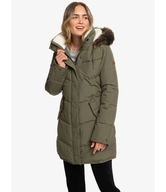 ROXY ROXY WOMENS ELLIE LONGLINE SNOW JACKET IVY GREEN 2020