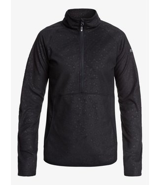 ROXY ROXY WOMENS CASCADE TECHNICAL ZIP-UP FLEECE TRUE BLACK RISINGPEAK EMBOS 2020