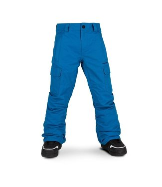 VOLCOM VOLCOM YOUTH CARGO INSULATED SNOW PANT BLUE 2020