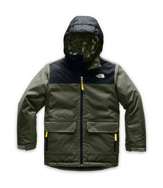 THE NORTH FACE THE NORTH FACE BOYS FREEDOM INSULATED SNOW JACKET GREEN / BLACK 2020