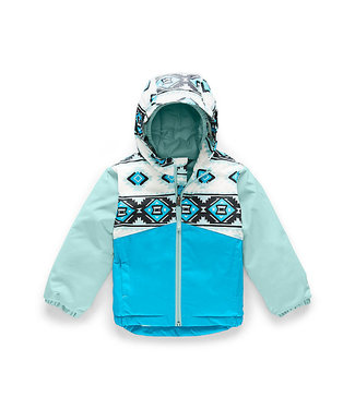THE NORTH FACE THE NORTH FACE TODDLER BOYS SNOWQUEST INSULATED SNOW JACKET WHITE TRIBAL GEO PRINT 2020