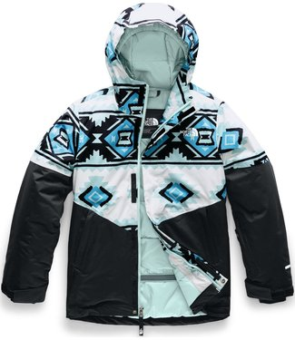 THE NORTH FACE THE NORTH FACE GIRLS BRIANNA INSULATED SNOW JACKET WHITE / TRIBAL PRINT 2020